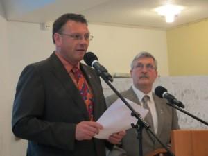 Die Geschäftsführer des Rheinischen Fischerfestes Heiko Adler und Michael Schäfer