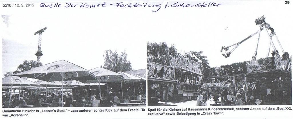 Artikel im Der Komet - Fachzeitung für Schausteller_Teil1
