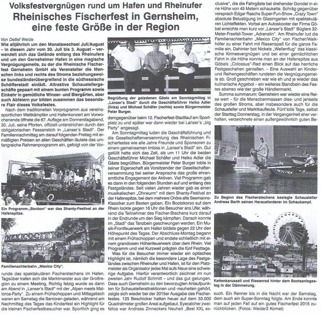 Artikel im Der Komet - Fachzeitung für Schausteller_Teil2_3